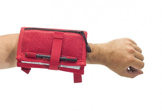 Elite Bags Maps Document Arm Pouch - Red