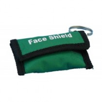 Resusciade Face Shield in Green Key Ring Pouch