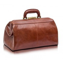 Elite Traditional Medical Bag - Brown Leather