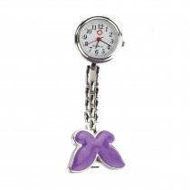 Butterfly Fob Watch - Purple